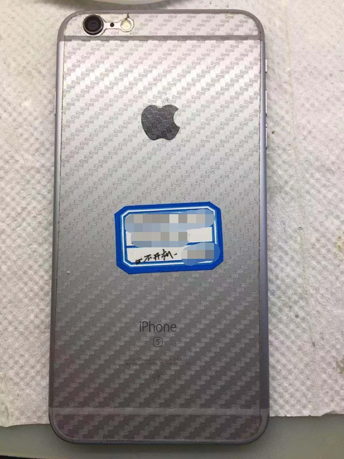 iPhone 6s Plus 搬过的板重做CPU修复开机定电流80MA故障