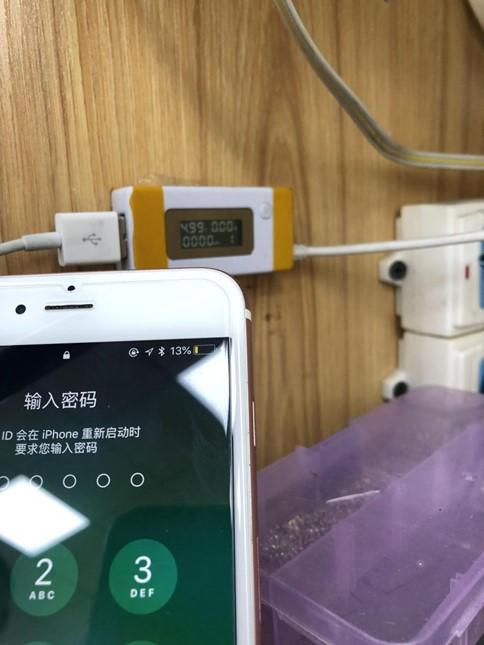 iPhone 6S plus显示充电,但手机电池充不进电维修