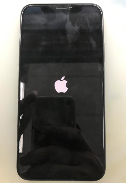 iPhone X手机进水后开机卡白苹果故障维修