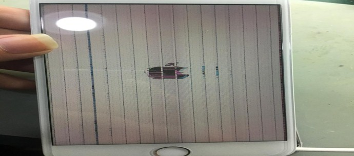 iPhone7P开机显示花屏故障维修