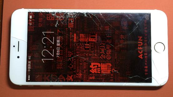 iPhone6 Plus手机屏幕碎裂,更换外屏全过程
